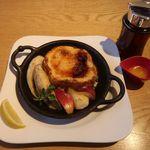むさしの森珈琲 - ふわっとろフレンチトーストに焦がしバターをトッピング