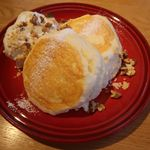 むさしの森珈琲 - ローストナッツクリーム 蜂蜜入メイプルシロップ添え