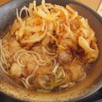ゆで太郎 - かき揚げ蕎麦へ(2017.12.28)