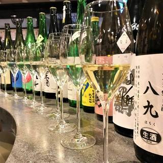 日本酒・ワイン豊富にそろえています!