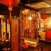橙台 - 明るい店内は中華街をイメージ