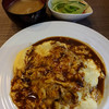 洋食 あきら - 料理写真:ふわふわオムライス(サラダ付)(大盛り)950円(大盛りプラス100円)