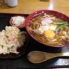 福中 - 料理写真:天ぷらうどん 卵トッピング
