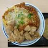 かつや - 料理写真:2018年1月 鶏煮込みとチキンカツの合い盛り丼 637円