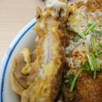 かつや - 2018年1月 鶏煮込みとチキンカツの合い盛り丼 637円