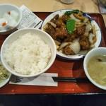 80584130 - 鶏肉の黒酢あんかけ定食 780円(税込)(2018年2月7日撮影)