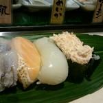寿司 魚がし日本一 - 晩酌セット寿司四貫
