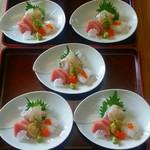 手打蕎麦 元禄 - 料理写真:お任せコースの御造り