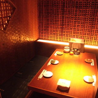 掘りごたつ個室・テーブル個室など しっとりと上品な空間