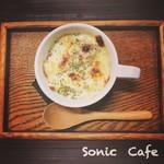 ソニックカフェ - オニオングラタンスープ ¥380