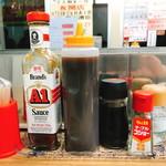 サウザンステーキ - A1ソースの右側がオリジナルソースっぽい