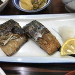 うちの食事の店 - メインの塩サバ