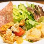 Kagurazaka Italian - パスタランチ 2001円 の前菜とサラダのプレート