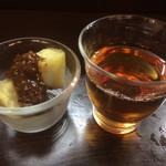 うずまき 別館 - 前菜とお茶