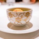 エクアトゥール - 雲丹とアオサ海苔の中華麺