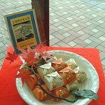 ふる里 - 料理写真:姫路菓子博2008にて「全菓博栄誉大賞」を受賞した、栗が丸ごと入った焼饅頭「栗の味覚ふる里」(価格:189円(税込))