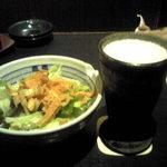 8060234 - お通しサラダとビール