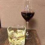 美食天堂 金威 - 赤ワイン&梅酒 ロック