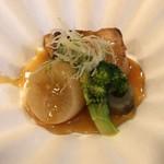 日本料理 いらか - 【焼物】ブリ。車麩や大根添え