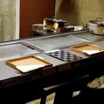 日本料理 きた川 - カウンター席