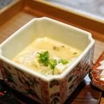 日本料理 きた川 - ☆福井県のもずくがにとブルーチーズの茶碗蒸し
