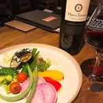 情熱の千鳥足CARNE - 野菜サラダあたりでワイン