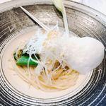 リストランテKubotsu - からすみと山菜のスバゲッティ