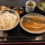 Sakesakanaomata - 鯖味噌煮定食