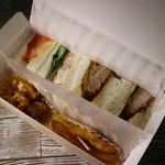 スリーコンカフェ - ランチボックスライト meatmix(500円税込)