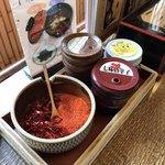 武蔵そば - 卓上の薬味