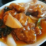 味楽 - 日替り定食の酢豚