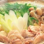 立川串揚げ えん - 冬限定!!鶏のの白湯鍋(バイタン鍋)