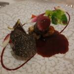 Odette - 料理写真:鹿鞍下ヒレのロースト モルドワインのソース セロリのムース トリュフ添え