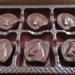 北の自然菓 柳月 - 馬蹄形のチョコ