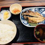 J食堂わんえいと - 焼魚定食(アジの開き)