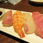たぐせん - おまかせ寿司4貫。