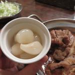 アフター ザ レイン - らっきょう漬け30円。 自家製辛子高菜120円をトッピングしても面白かったですね。