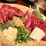けとばし屋チャンピオン - 料理写真:馬焼肉盛り合わせ♫