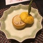 湊のやど汀家 - 料理写真:先付けの柚子釜。
