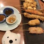 三代目 鳥メロ - 串揚お任せ8本 Chef's Choice 8 Meat and Vegetable Skewers at Sandaime Torimero, Keikyu Sugita!♪☆(*^o^*)