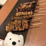三代目 鳥メロ - ぷるぷるダレの焼鳥7本盛 7 Yakitori Skewers with Jiggly Tare Sauce at Sandaime Torimero, Keikyu Sugita!♪☆(*^o^*)