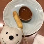 三代目 鳥メロ - 燻製チーズ串 Smoked Cheese Skewer at Sandaime Torimero, Keikyu Sugita!♪☆(*^o^*)