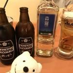 三代目 鳥メロ - 森羅、ホッピー白黒 Shinra Shochu, Hoppy, Hoppy Black at Sandaime Torimero, Keikyu Sugita!♪☆(*^o^*)