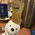 三代目 鳥メロ - 森羅、緑茶ポット大 Shinra Shochu, Large Thermo Pot of Green Tea at Sandaime Torimero, Keikyu Sugita!♪☆(*^o^*)