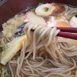 北のそば和佳亭 - お蕎麦…ちょっと変わったから…鍋焼きには不向きかも?溶ける感じ…