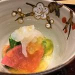 80629531 - 白海老 数の子 赤蕪 水菜 柚子酢ジュレ