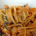アル・パッソ - エビとキノコのトマトクリームスパゲッティ