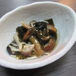 魚たつ - きのこと山菜の煮物