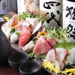 地鶏×鮮魚 個室居酒屋 もみじ庵 - 新鮮鮮魚盛り合わせ