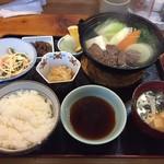 絹川 - 鹿シャブ鍋定食(630円)